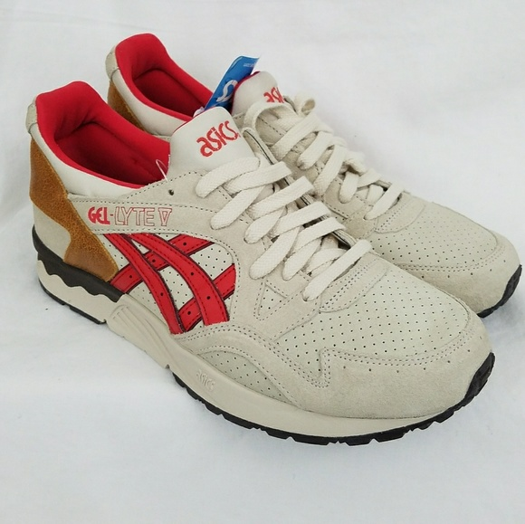 tubo estar impresionado Conclusión  Asics Shoes | Mens Gellyte V 5 Off White Fiery Red H6b0k | Poshmark